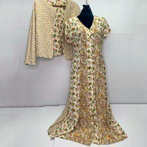 Vintage April Cornell Dress Set Prairie Boho Maxi